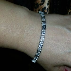 Jewelry - Sterling silver and saphire tennis bracelet